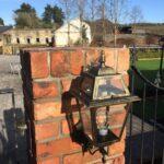 salvage red brick pier , gate , rail